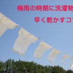 梅雨 洗濯物 乾かすコツ