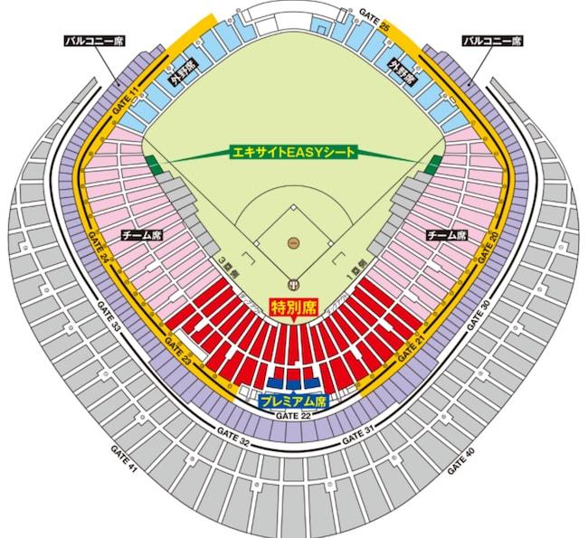 都市対抗野球 会場見取図